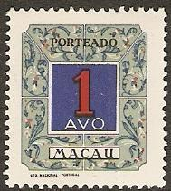 1952 Macao Scott J53 Postage Due MNH