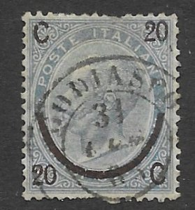 Italy # 34   Surcharge  20c on 15c  1865  (1)  Used