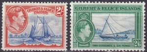 Gilbert & Ellice Islands #49-50 F-VF Unused CV $9.50 (Z3058)