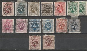 Belgium Used #198-211 incomplete set lot#190812-7