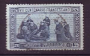 J20303 jlstamps 1926 italy used #182a perf 13 1/2 st francis