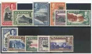 Ceylon SG368/378 Mounted Mint