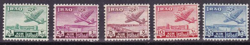 Iraq 1949 First Airmail Set C1-C8 Complete (8) in VF/NH Condition