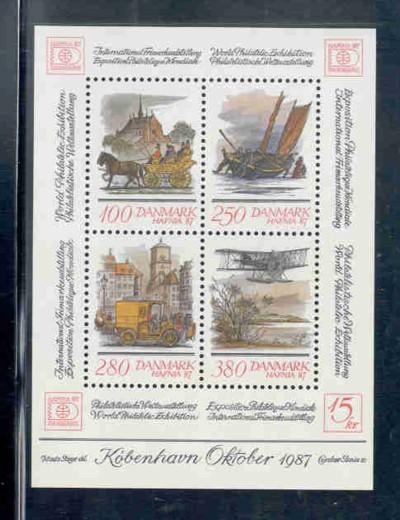 Denmark Sc 791 1986 HAFNIA 87 stamp sheet mint NH