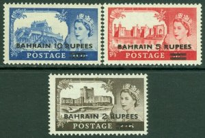 EDW1949SELL : BAHRAIN 1955 Scott #96-98 Complete set. Very Fine, Mint NH Cat $39