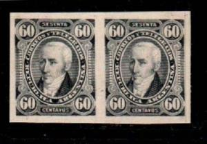 Argentina Scott 82a Mint no gum , imperf proof pair on thin card stock.