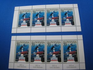 SLOVENIA 1994 - SCOTT # 192 (2 Mini Sheets)   MNH
