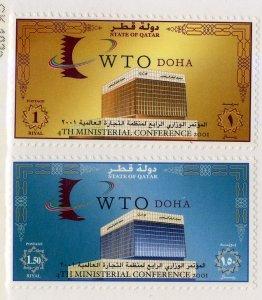 QATAR 952-3 MNH SCV $5.25 BIN $2.75 WTO