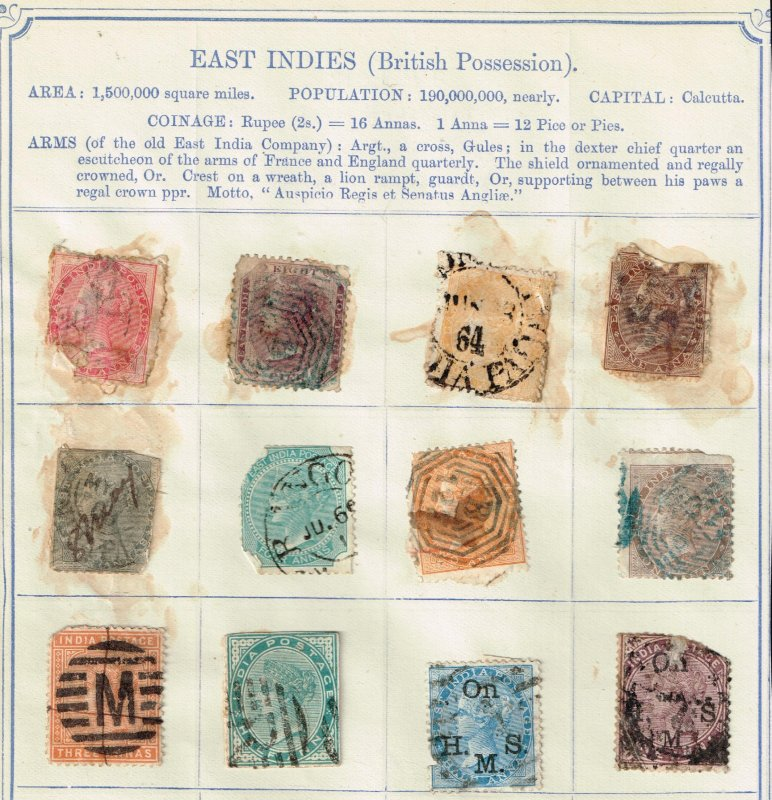 UK STAMP EAST INDIES FAULTS STAMPS LOT