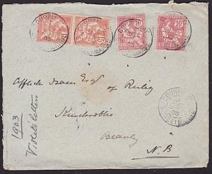 FRANCE 1903 cover to Scotland - nice franking...............................6645