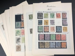 International  Romanian Stamp Pages Karl I & More Some cancelled