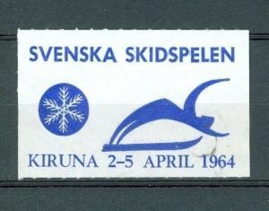 Sweden. Poster Stamp 1964. Swedish Games, Skiing. Kiruna.