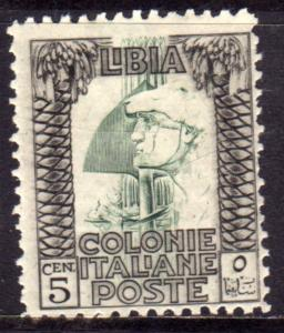 LIBIA 1926 - 1930 PITTORICA  CENT. 5c DENT. 11 PERF. MLH