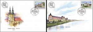 Serbia 2019 Cities Architecture Buildings City Hall Court Church FDC