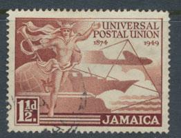 Jamaica SG 145  Used  SC# 142 UPU   see details