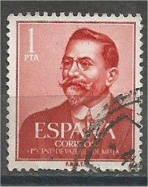 SPAIN, 1961, used 1p, Juan Vazquez de Mella. Scott 990