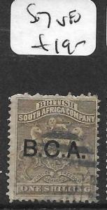 BRITISH CENTRAL AFRICA  (P1209B) BCA SURCH 1/-  SG 7  VFU