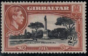 Gibraltar 1938-1949 SC 115Var Center is off center-Tree Touching SCV $150.00