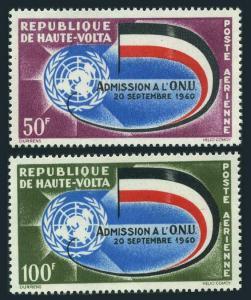 Burkina Faso C5-C6,MNH.Michel 112-113. Admission to UN,1962.Emblem,Flag.
