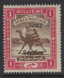 SUDAN SGA6 1906 1m BROWN & CARMINE MTD MINT