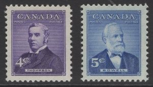 CANADA SG475/6 1954 PRIME MINISTERS MNH