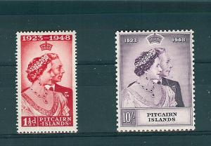 Pitcairn Islands, 11-12, Silver Wedding Singles, **MNH**