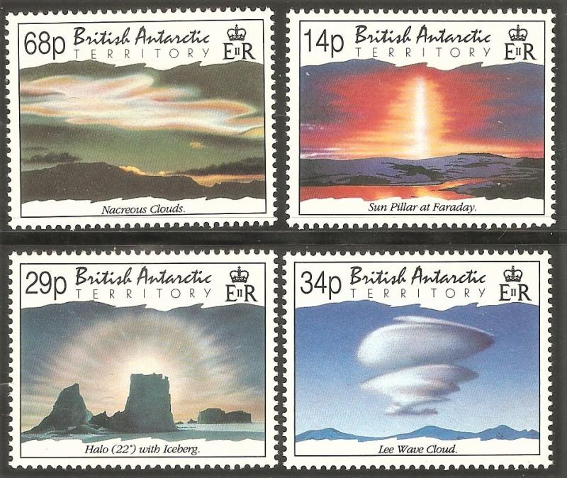 BRITISH ANTARCTIC TERRITORY Sc# 198 - 201 MNH FVF Set-4 Sun Pillar