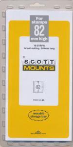 Prinz Scott Stamp Mount 82/240 BLACK Background Pack of 10