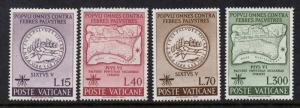 Vatican 326-9 MNH - Map WHO, Malaria Eradication, Medicine