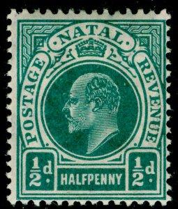 SOUTH AFRICA - Natal SG146, ½d blue-green, LH MINT. Cat £12. WMK MULT CA