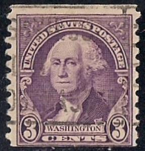 721 3 cent LOGO CANCEL Washington D Violet coil Stamp used F