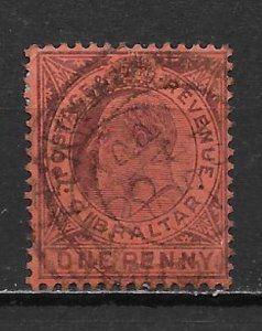 Gibraltar 40 1d Edward VII single Used (z1)