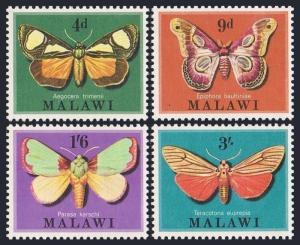 Malawi 138-141,141a,MNH.Michel 134-137,Bl.19 Moths of Malawi,1970.
