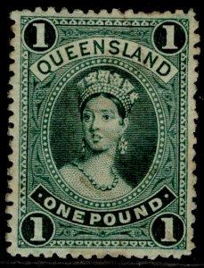 AUSTRALIA - Queensland QV SG161, £1 deep green, M MINT. Cat £325.