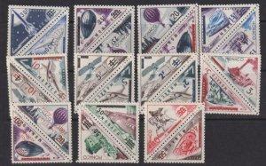 Monaco 1956 SC 371-390 + C49-50 MLH