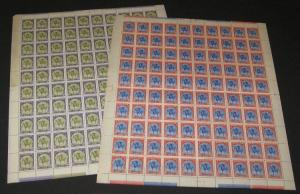 GREENLAND #10-18, Complete set of 9 in Full Sheets of 100, og, NH, VF Scott $55K