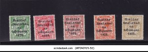 IRELAND - 1922 SCOTT#39-43 5V OVPT - MINT NH