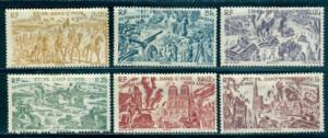 French India #C8-C13  Mint  Scott $12.80   #C10 Thin