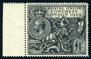 GREAT BRITAIN UPU CONGRESS SC# 209 MINT LIGHTLY HINGED AS SHOWN
