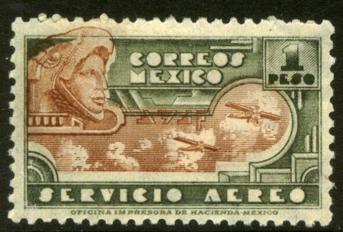 MEXICO C176 $1P 1934 Definitive Wmk Gobierno...279 MNH