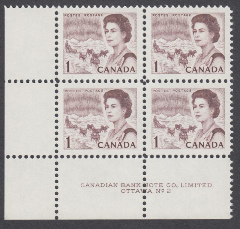 Canada - #454 QE II Centennial Plate Block #2 - MNH