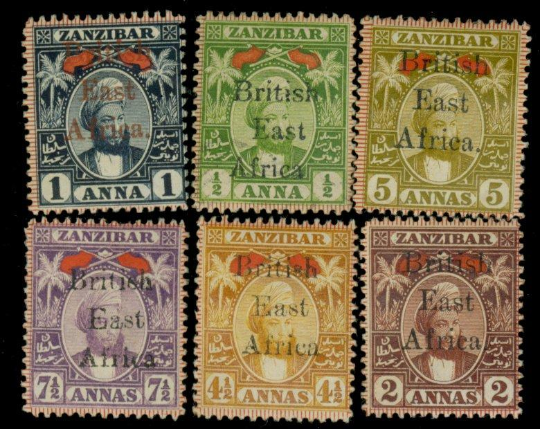 British East Africa #88-93 MINT F-VF OG HR Cat$417.50