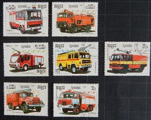 Fire Engines, Cambodia, Kampuchea, 1987, (1686-Т)