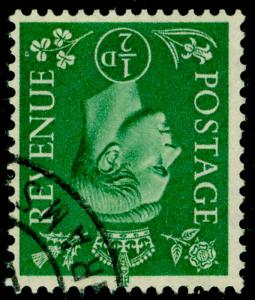 SG485Wi, ½d pale green, FINE USED, CDS. WMK INV