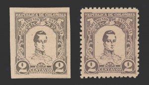 COLOMBIA - ANTIOQUIA 1899 SCOTT # 119. PERF. AND IMPER. UNUSED