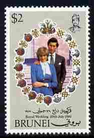 Brunei 1973 Royal Wedding 1981 Royal Wedding $2 with wmk ...