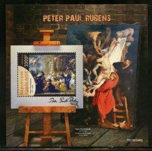 TOGO 2019  PETER PAUL RUBENS PAINTINGS  SOUVENIR  SHEET  MINT NH
