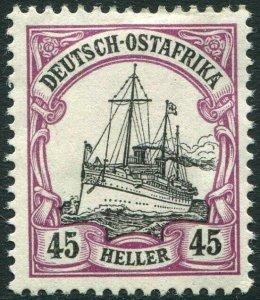 GERMAN EAST AFRICA-1905 45h Black & Mauve no watermark Sg 32 MOUNTED MINT V36334