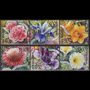 NEW ZEALAND 2001 - Scott# 1702-7 Flowers Set of 6 LH