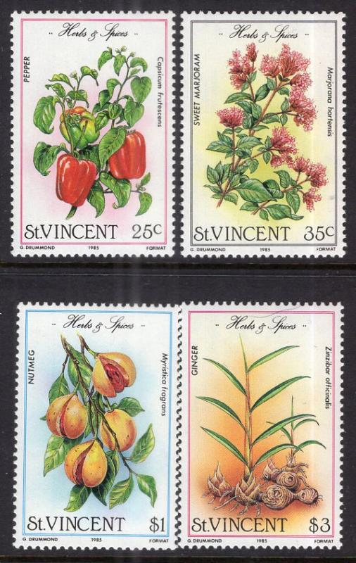 St. Vincent MNH 829-32 Herbs & Spices